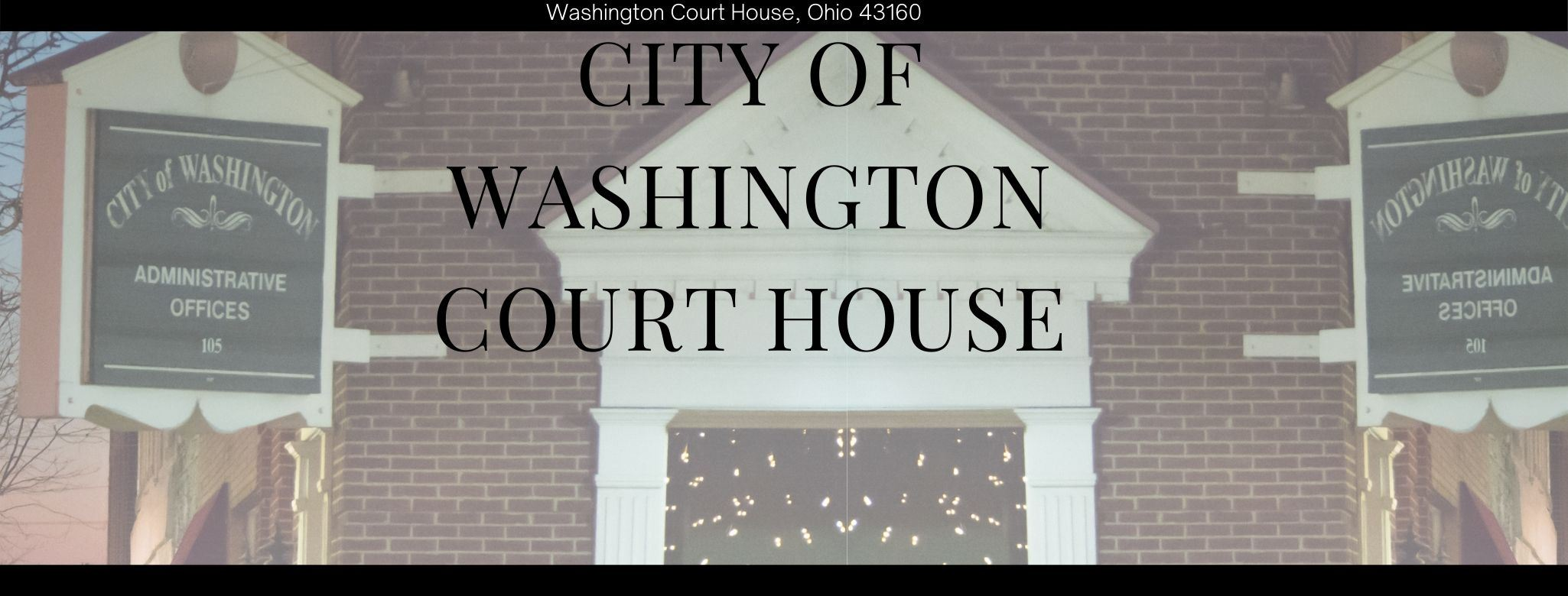 Washington Court House Oh Official Website
